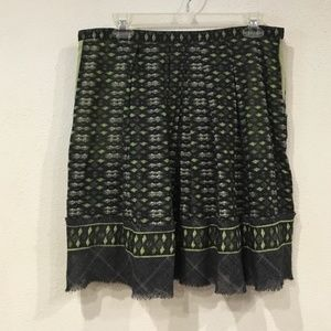 FINAL $ Cynthia Steffe Tribal Print Pleated Skirt